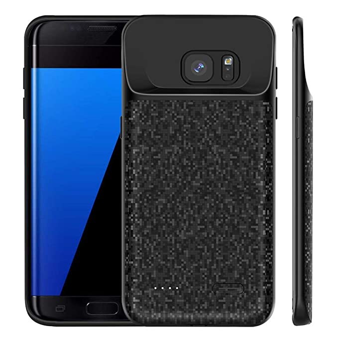 lowest price 3e578 e0afa Galaxy S7 Edge Battery Case, MAXBEAR 4700mAh Portable Charger Case  Ultra-Thin Rechargeable Extended Battery Pack Protective Charging Case for  Samsung ...