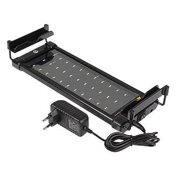 MagiDeal Lámpara LED de Acuario Enchufe EU Iluminación de Tanque para Pescado Planta Marina Diseño de Barra Ajustable 40A/60A - 40A: Amazon.es: Hogar