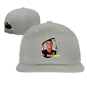 Z-Jane Dallas Dak #5 Prescott Trucker Baseball Cap Hip Hop Hat Adjustable Snapback Flat Bill Ash
