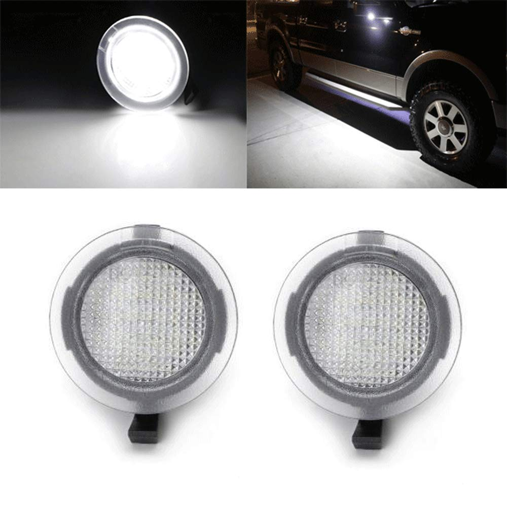 Ford Led Puddle Light Under Side Rear View Mirror Assembly Lamp for Ford F150 Explorer Edge Mondeo Fusion Raptor Mustang Taurus Flex Etc shaobo