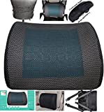 CHRISTMAS FLASH SALE! Ergonomically Contoured Memory Foam Lumbar Cushion with Back Strap to Provides proper back rest Lower Back Support office chair car. Free Replacement for any Damages.