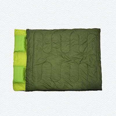 CAICOLOR Sac de couchage double intérieur et extérieur rectangulaire avec remplissage chaud 4 saisons pour le camping et la randonnée