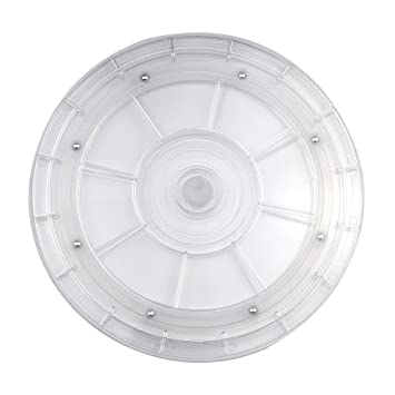 YAMAY® Lazy Susan Turntable Organizer 8 Inch White Acrylic For Spice Rack  Table Spices Cake