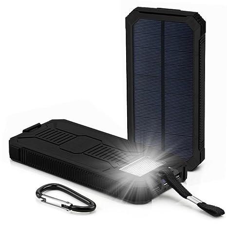 Amazon.com: gbsell LED Dual puertos USB Panel Solar banco de ...