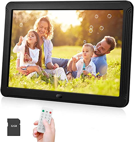 IEBRT Digital Picture Frame 8-Inch High-Definition Digital Photo Frame 1920×1080 IPS Screen Brightness Adjustable Photo Deletion Automatic Rotation Motion Sensor 16 9 Widescreen