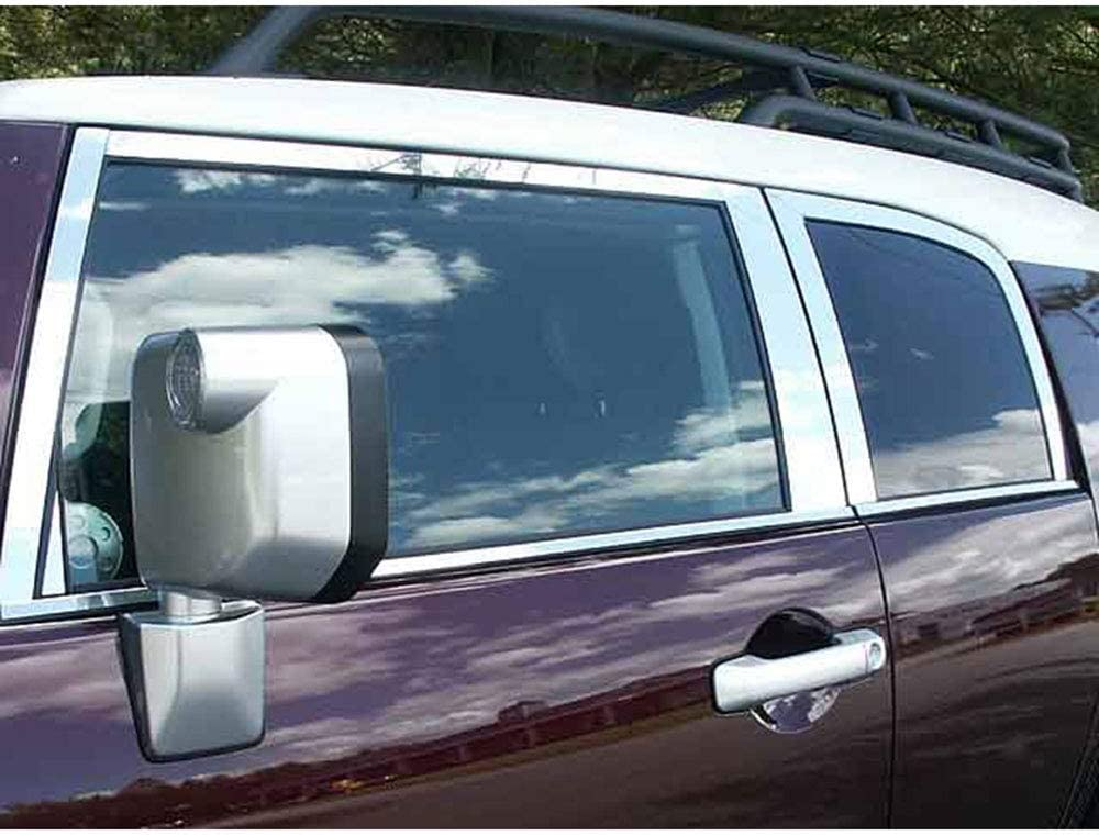 for 2007-2014 Toyota FJ Cruiser Upgrade Your Auto 18p Luxury FX Chrome Window Package w//Posts /& Sill