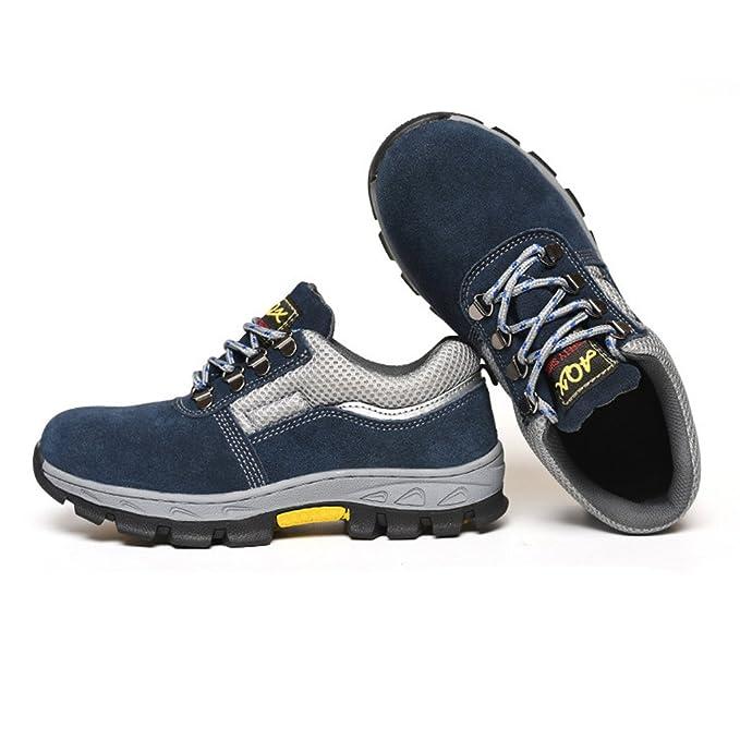 D DOLITY Zapatos de Seguridad para Hombres Botas de Trabajo anti-perforación de Acero - eu 42 us 8.5 uk 8: Amazon.es: Deportes y aire libre