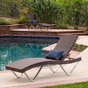 Amazon.com: San Marco chaise lounge Conjunto de 2: Jardín y ...