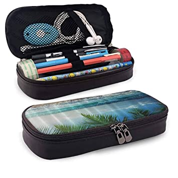Amazon.com: Estuche grande para lápices, Palms Ocean ...