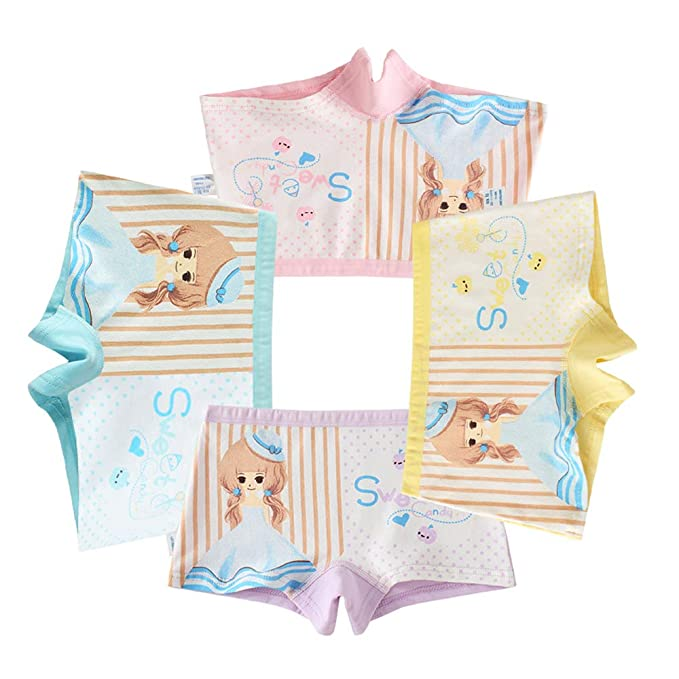 e26d02405 Usex Sense 12 Pack niñas algodón Boyshorts Lovely Boxers Ropa Interior  Tamaño 2-12 años  Amazon.es  Ropa y accesorios
