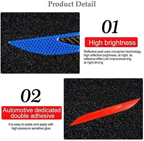 Cuque Car Rear Bumper Guard Protector Tape Self-Adhesive Rear Bumper Sticker Decal Protector Strip Durable Protective Rear Door Self-Adhesive Decal Strip