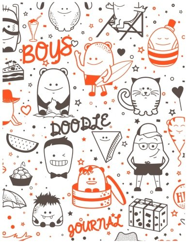 Boys Doodle Journal: 8.5 X 11, 120 Unlined Blank Pages For Unguided Doodling, Drawing, Sketching & Writing
