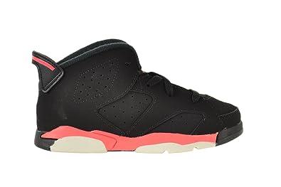 fd373adf1f51ab Jordan 6 Retro (TD) Baby Toddlers Shoes Black Infrared-Black 384667-