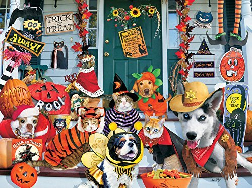 SunsOut Halloween Costume Contest 1000 pc Jigsaw Puzzle -Halloween Pets Theme ()
