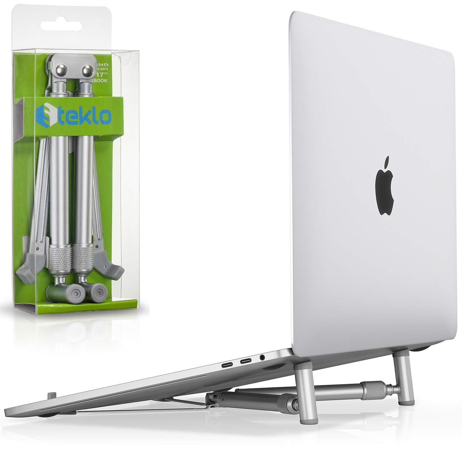 Steklo MacBook Pro Stand - X-Stand Aluminum Laptop Stand for 12 13 15 17 inch - Adjustable Laptop Stand for Desk Portable Foldable Compact Universal Computer Cooling MacBook Stand (New Version 2019) by Steklo