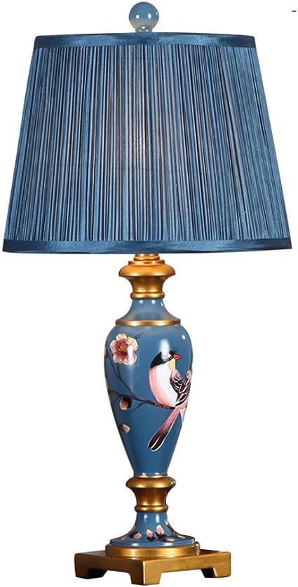 Tisch  & Nachttischlampen Nordische Art Lampen Schlafzimmer Nachttischlampe, Retro  Harz gemalte ...