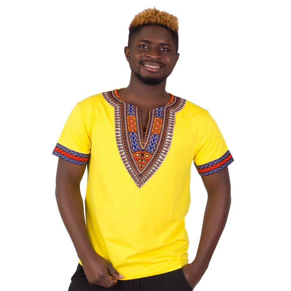 FANS FACE African Traditional Dashiki Men Fashion T-shirt Tops 2018 Nigeria Short Sleeve Plus Size