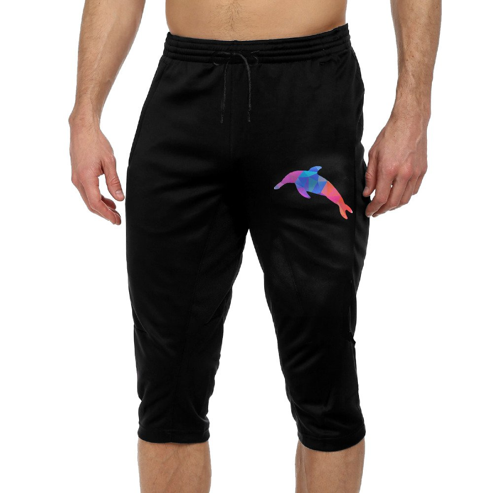 Beautiful Funny Whale Boys Performance Three-Quarter Drawcord Crop Jogger Pants M by VSFP