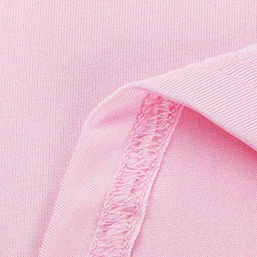 Rosa Sexy Felpe Cavo Gilet Crop Felpa Donne Canottiere Weant Vest Vestiti Girocollo Benda Tee Pianura Tshirt Halter Donna Elegante Camis Estivi Tops Casual Canotta Abbigliamento Manica Tank HO5X8qF