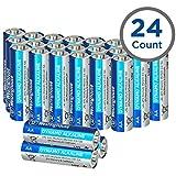 Westinghouse Alkaline Batteries, Size AA Alkaline Battery, Primary Battery, 24 Counts (AA, 24 Counts)