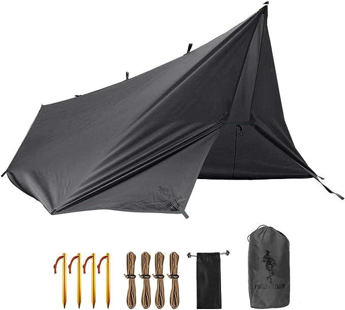 TRIWONDER Toldo Impermeable Acampada Ligero Port/átil Lona para Camping Carpa al Aire Libre