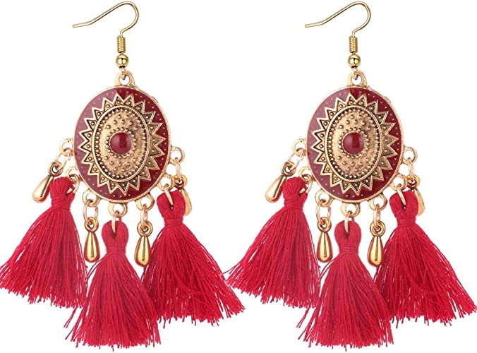 Ruby /& Topaz Lab 925 Sterling Silver With Bronze Drop /& Dangle Turkish Earring PG-104502 Saamarth Impex Emerald