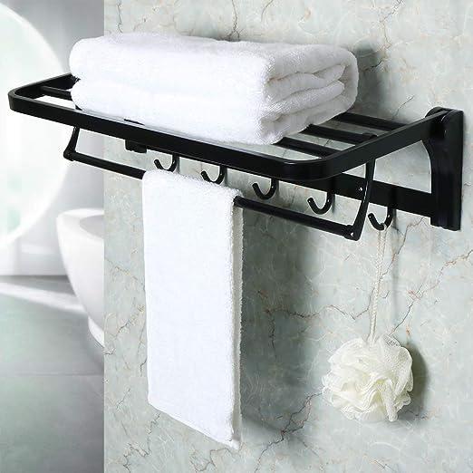 Alise Gz8000 B Bathroom Lavatory Towel Rack Towel Shelf With Two