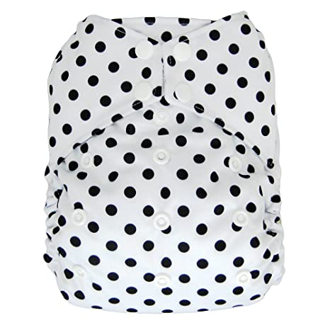 Amazon.com : All-in-one Cloth Diaper Shell, Snap Buttons, One Size AIO (Polka Dot) : Baby
