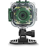 DROGRACE Children Kids Camera Waterproof Digital Video HD Action Camera 1080P Sports Camera Camcorder DV for Boys Birthday Holiday Gift Learn Camera Toys 1.77'' LCD Screen (Camouflage)