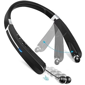 Auriculares inalámbricos Deportivos portátiles, Plegables, Bluetooth, con cancelación de Ruido, con micrófono