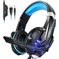 Gaming Headset für PS4 Xbox One PC Nintendo Switch Laptop, INSMART Noise Cancelling Over Ear Kopfhörer mit Mikrofon, Surround Sound System (mit Extra 3,5mm Y-Klinkenadapter) - G9000 PS4 Headset