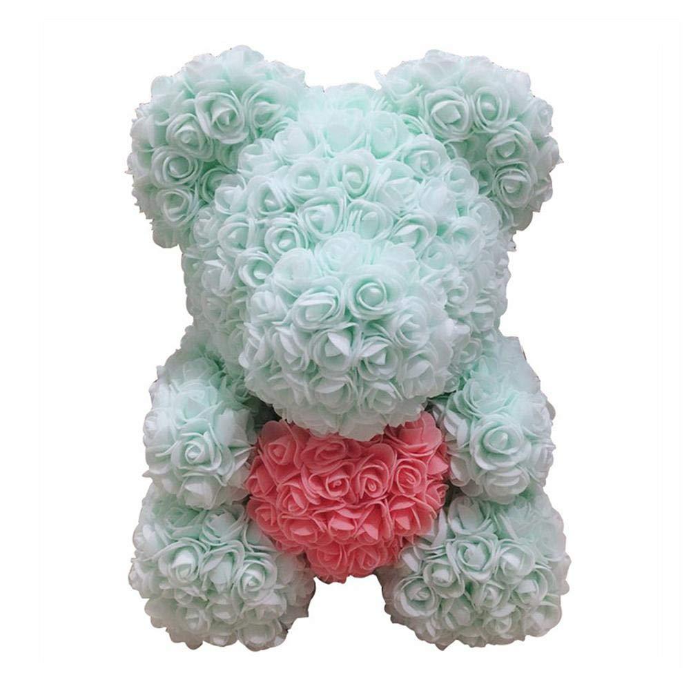 Rose Bear Love Heart Foam Rose Flower Lovely Bear San Valentino Regalo romantico di compleanno