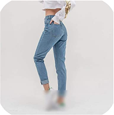Amazon Com Jean Mujer Mama Jeans Pantalones Boyfriend Jeans Para Mujer Con Cintura Alta Push Up Tamano Grande Damas Jeans Denim 5xl Azul Claro 34 Clothing