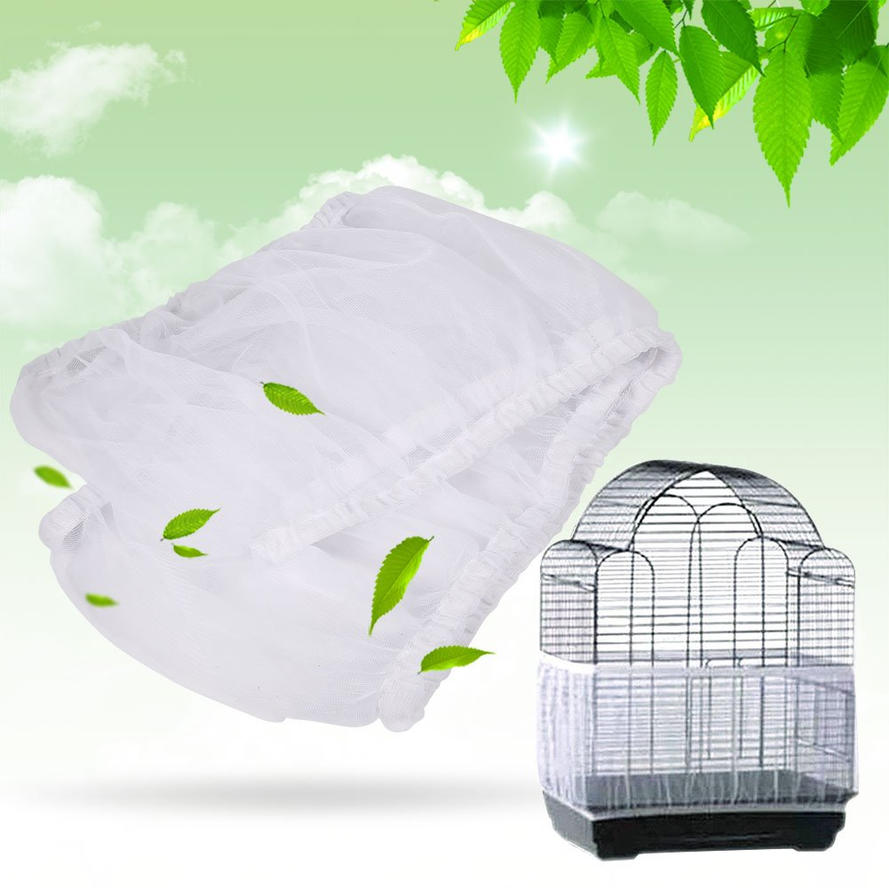 Universal Nylon Mesh Pet Birds Parrot Cage Seed Catcher Cover Shell Suave Ventilada Birdcage Skirt S Tama/ño HEEPDD Bird Cage Cover Azul