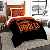 "Baltimore Orioles MLB Twin Comforter Set (Grand Slam Series) (64"" x 86"")"