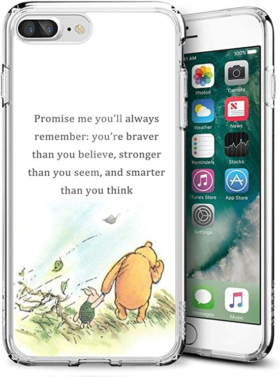 winnie the pooh Disney cute quotes 2 iphone case