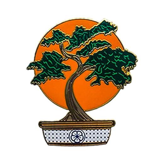 Amazoncom Bonsai Tree Enamel Pin Kirate Kid Movie Mr Mijagi