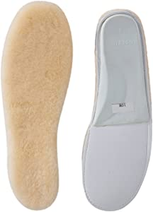 ABUSA Sheepskin Insoles Women's Premium Think Wool Fur Fleece Inserts Cozy & Fluffy 10