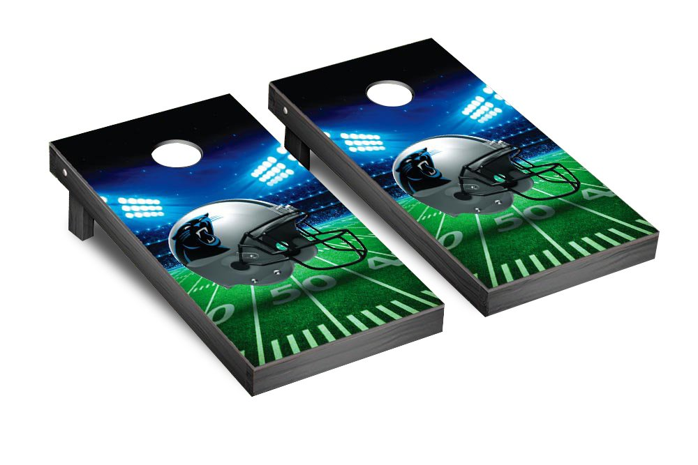 NFL Carolina Panthers Stadium Version Football Corn hole Game Set, One Size by Victory Tailgate (Image #1)