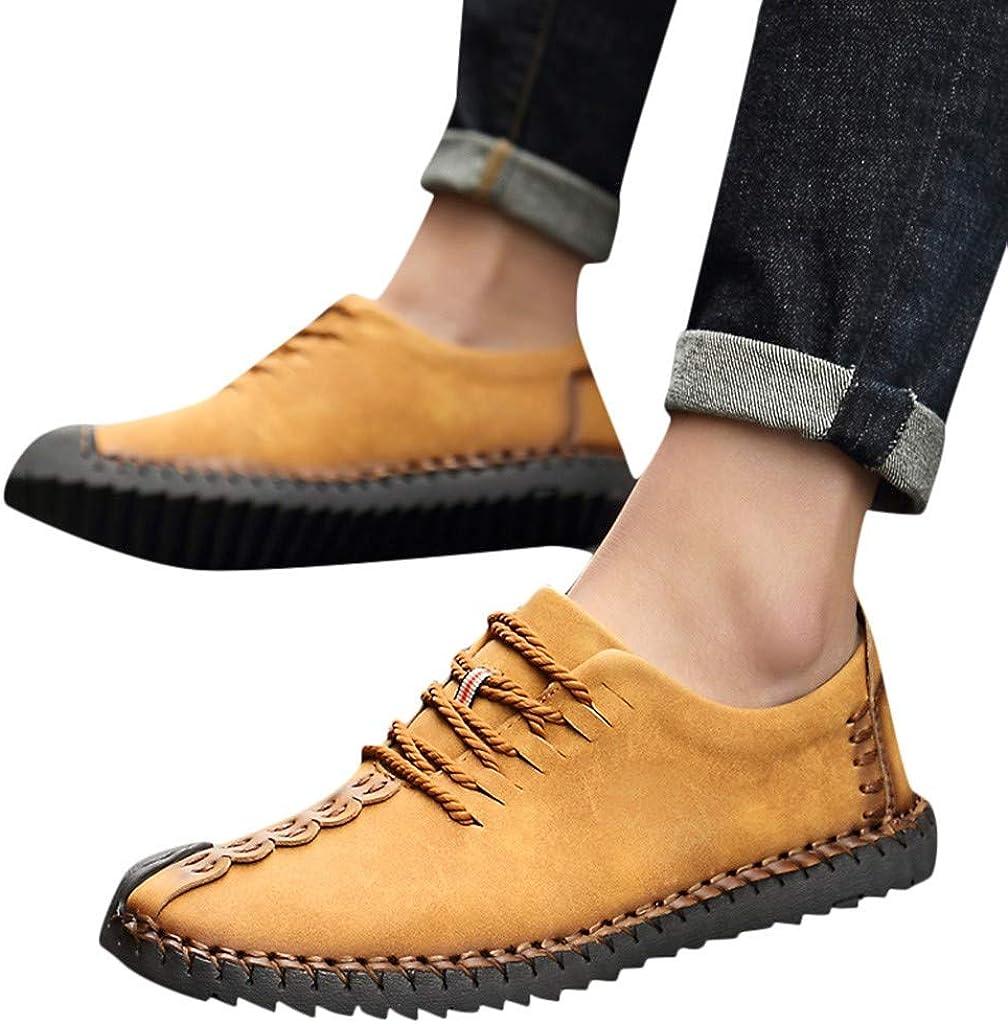 S/&H-NEEDRA Chaussure De Securit/é Homme Chaussures De Sport Hommes en Cuir D/écontract/ées en Plein Air /à Lacets R/ésistantes /à Usure Sneakers