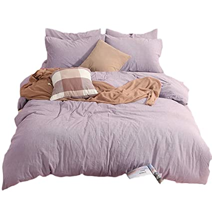 74452b04332f Amazon.com  CLOTHKNOW Mauve Bedding Set Duvet Cover Sets Queen ...