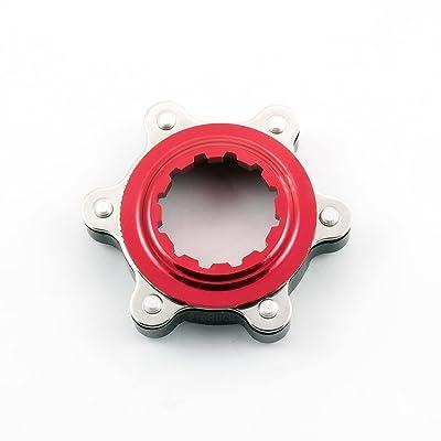 Adaptateur de freins disque MTB, Center-Lock adaptateur pour rotor de freins à disque pour 6 rotors de boulon, apte à pour Moyeux Shimano Centre-Lock