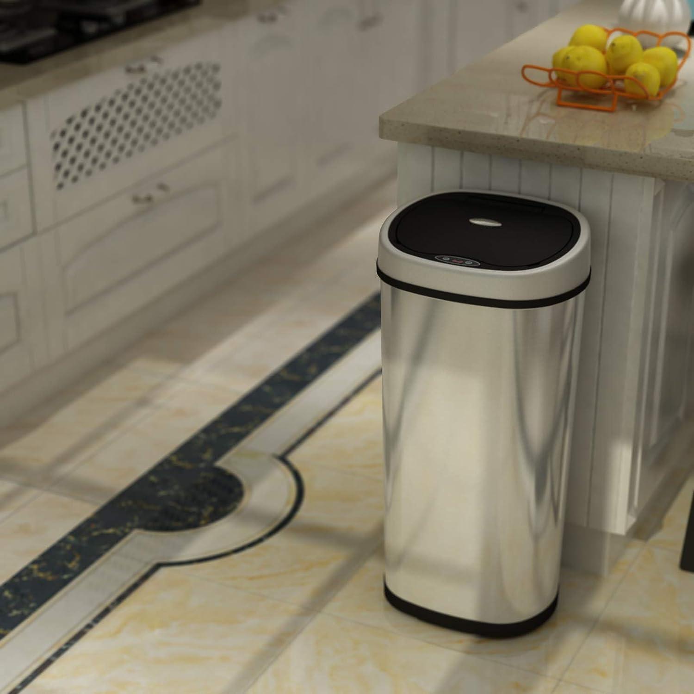 Automatik Mülleimer Abfalleimer mit IR Sensor Kücheneimer Abfallbehälter 42//50L