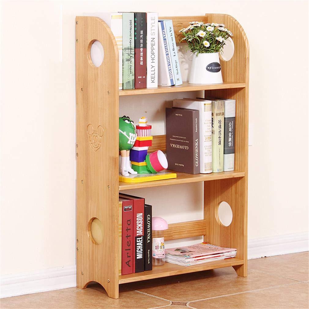 ALUP- 純木子供の本棚シンプルなフロアラックシンプルな組み合わせ小さな本棚滑らかな丸みを帯びたデザインウッドカラー   B07V3W7SVR