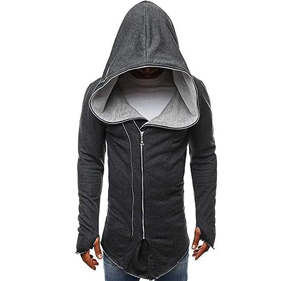 YanHoo Chaquetas Deportivas para Hombre Código Europeo para Hombre Ropa de Manto Oscuro Cremallera de Assassins