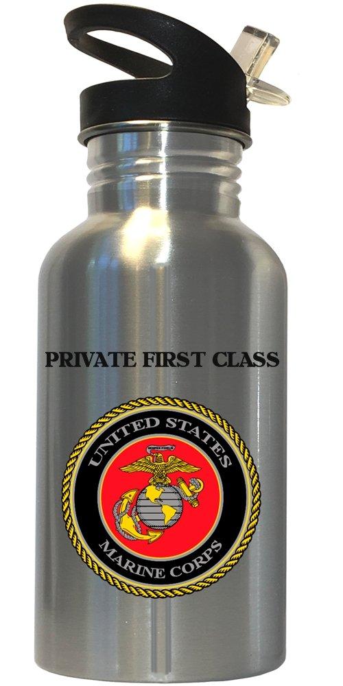 Private First Class – US Marine Corpsステンレススチールウォーターボトルストロートップ、1024 B074L59QTZ