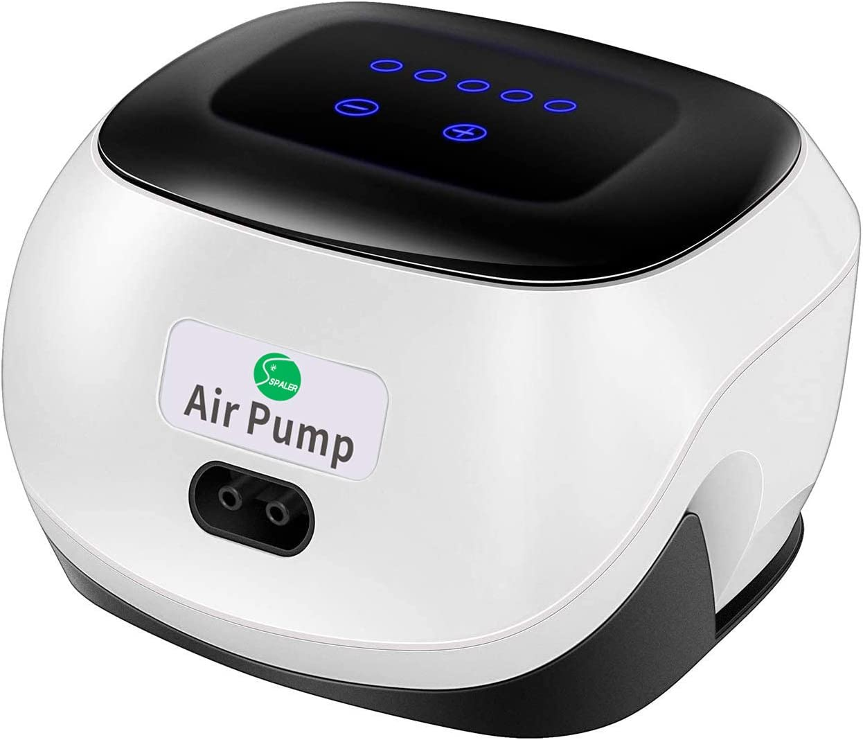 SPALER Aquarium Air Pump Fish Tank air Pump with Dual Outlet 2Stones 2Tubes 2 Check Valve Five Gear air Volume Touch Mold Adjustment
