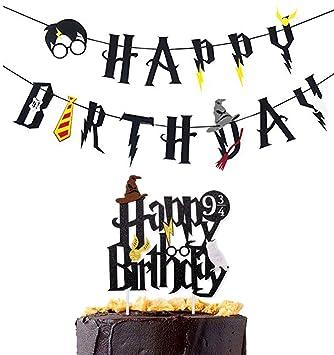 Amazon Com Harry Potter Happy Birthday Banner Party Supplies Happy