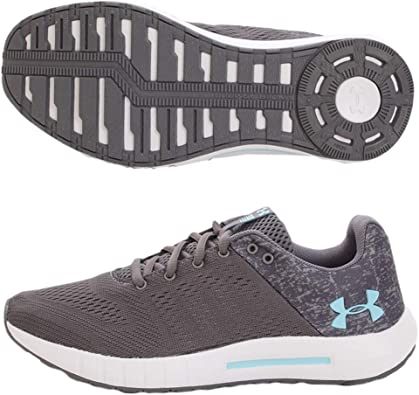 Under Armour Womens Micro G Pursuit Running Shoe, Graphite (102)/White, 6: Amazon.es: Zapatos y complementos