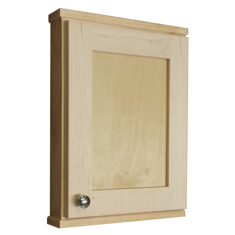 Wood Cabinets Direct 2.5'' Deep Inside Hamilton Shaker Series on the Wall Spice Cabinet, 18''